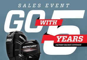 Go with 5 Mercury Marine promotion logo